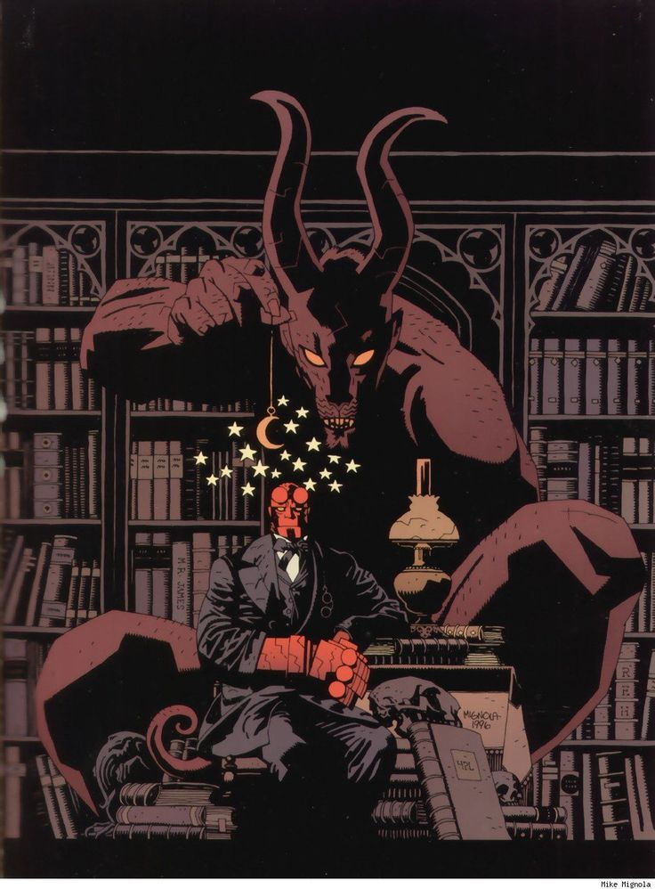 I don't know a ton about Hellboy, but this is cool art.