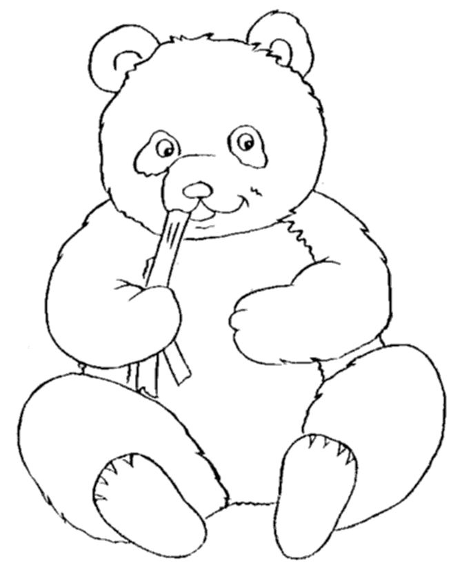 Top 10 Panda Bear Coloring Pages For Your Little Ones: This picture can be a good way of teaching your kid about Panda Bear's eating habits.
