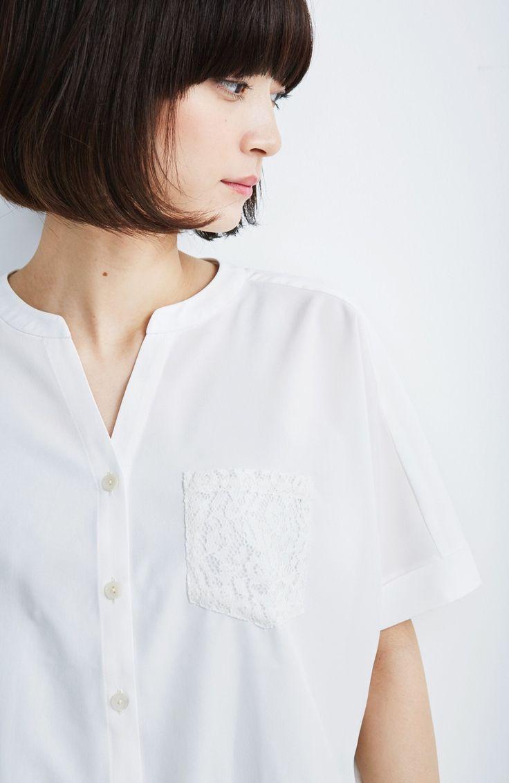 yoimachi: (エムトロワ エムトロワ後ろレースブラウスホワイト | ファッション通販のhaco!から) 田中真琴