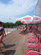 Swimming pool with beutiful view of Prague, Prague 3