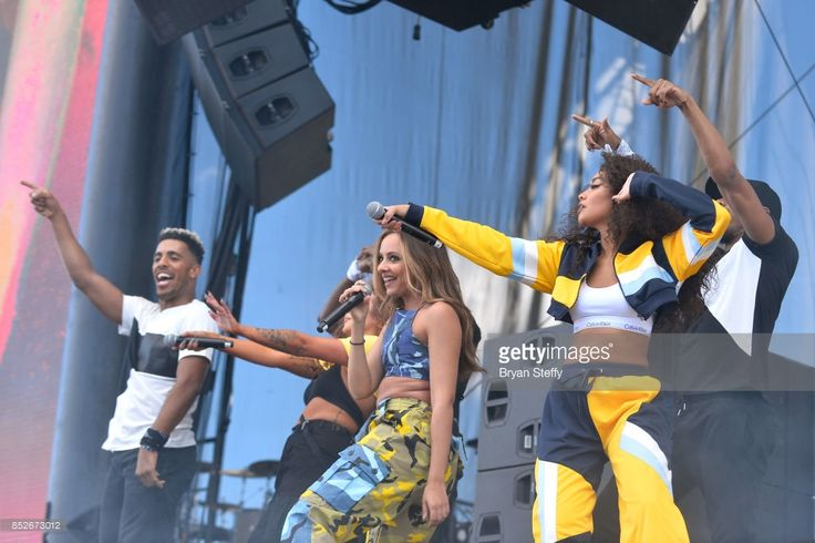 Jesy Nelson, Jade Thirlwall and Leigh-Anne Pinnock of Little Mix perform onstage during the Daytime Village Presented by Capital One at the 2017 HeartRadio Music Festival at the Las Vegas Village on September 23, 2017 in Las Vegas, Nevada.