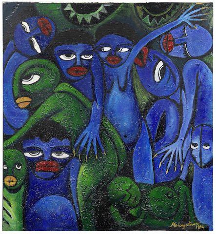 Malangatana Valente Ngwenya (Mozambican, 1936-2011) Sem Título (Untitled)