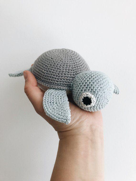 Haak Schildpad Baby Rammelaar Crochet Toys Crochet Crochet