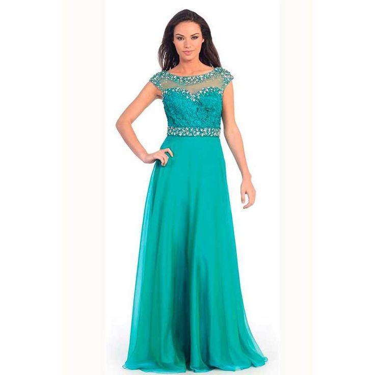 Vestido de noche verde jade vestidos