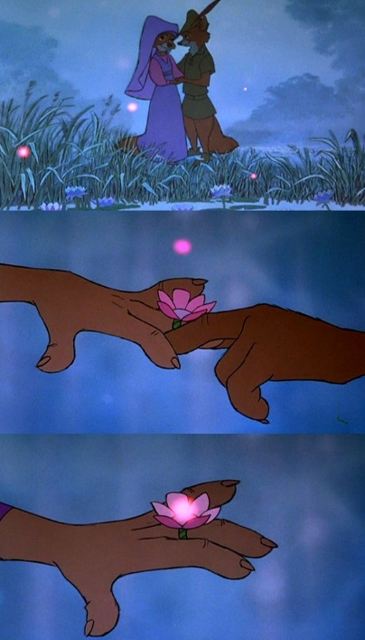 """Robin Hood // """"Love, it feels like only yesterday, you were just a child at play"""" // """"Our love goes on, and on, and on."""" // overlooked Disney love songs"""