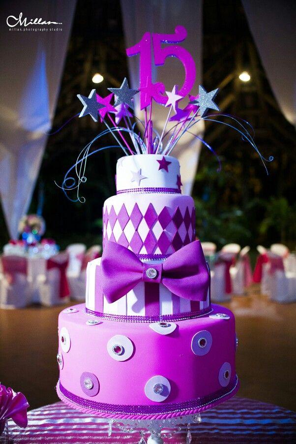 Maqueta torta 15 años