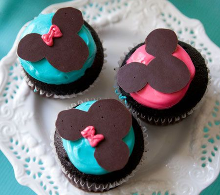 Mickey & Minnie Cupcakes