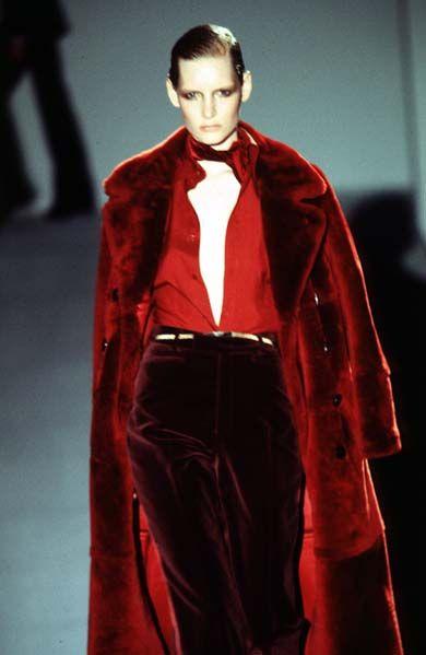 Tom Ford / For Gucci F/W 1996. American fashion designer, film director, screenwriter and film producer.