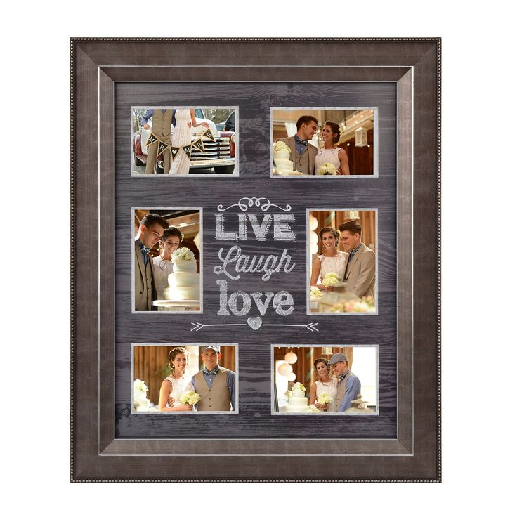 Distressed Black Live, Laugh, Love Collage Frame | Kirklands