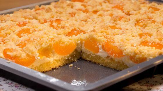 Schneller Quark-Streusel-Kuchen mit Obst Rezept - [ESSEN UND TRINKEN]