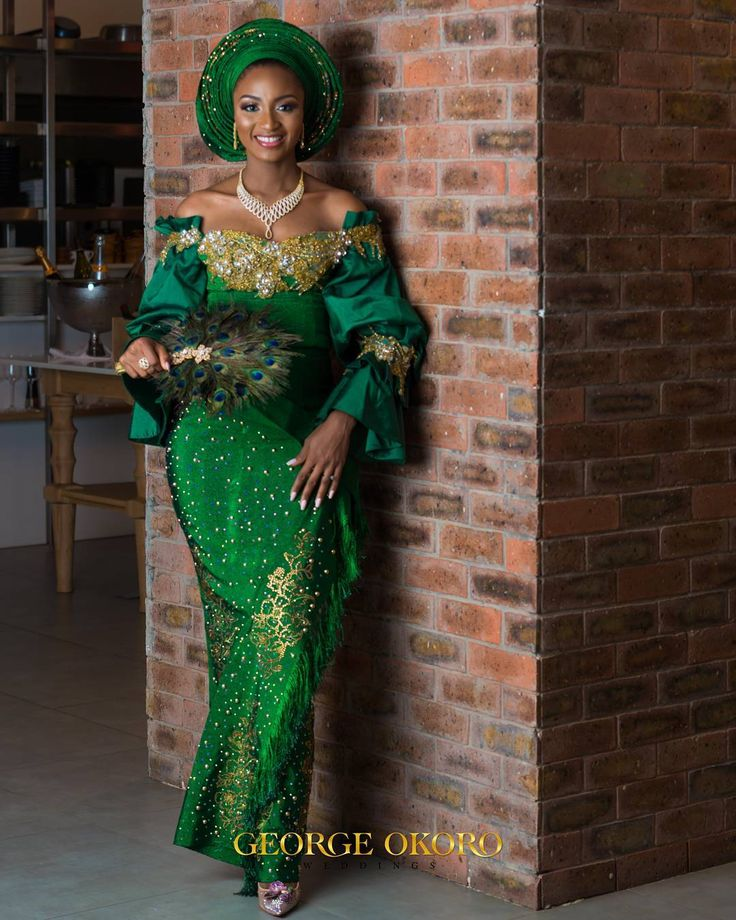 Best The Nigerian Wedding Dress Styles Images On Pinterest
