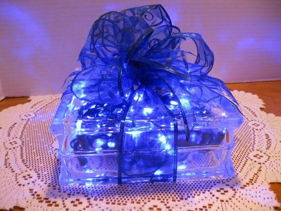 Blue Swirl Ribbon with BLUE LED Lights by Originalsbysuej on Etsy, $35.00