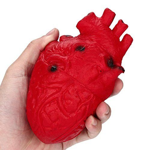 Leoy88 Novelty Silicone Stress Ball Scary Heart Organ Squeeze Stress Reliever Toy Trick Toys (Red). #Leoy #Novelty #Silicone #Stress #Ball #Scary #Heart #Organ #Squeeze #Reliever #Trick #Toys #(Red)