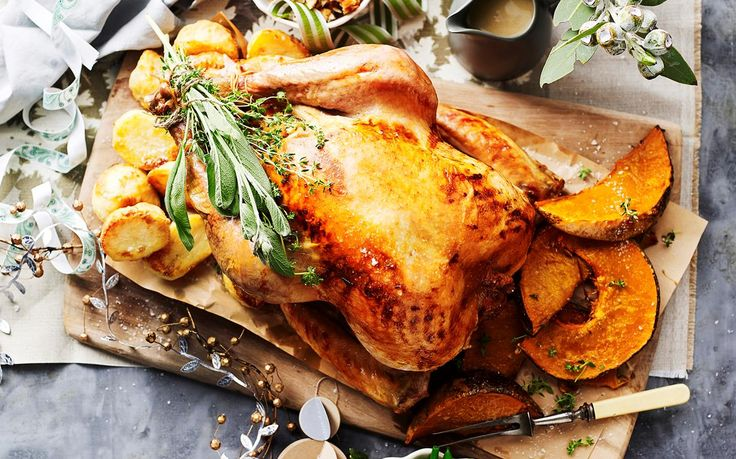 Roast turkey with bacon, onion and sage dressing recipe - By Australian Women's Weekly, Tis the season for this tender, flavoursome, and mouthwatering roast turkey with bacon, onion and sage dressing - perfect for Christmas lunch or dinner!