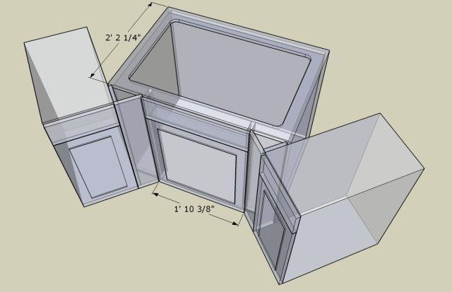 Corner Kitchen Sink Base Cabinet Dimensions Photo 8 Corner Sink Kitchen Corner Sink Small Kitchen Sink