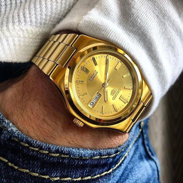 Reloj Dorado Seiko Hombre Relojes Dorados Mejores Relojes Relojes Fossil