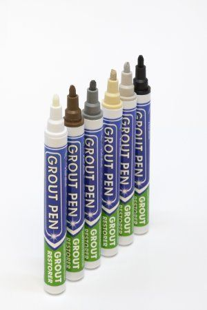Grout Pen Dark Grey - Ideal to Restore the Look of Tile Grout Lines - Grout Pen Gray - Amazon.com