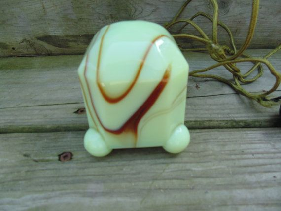 Art Deco Akro Agate Slag Glass Vintage Cigarette Lighter