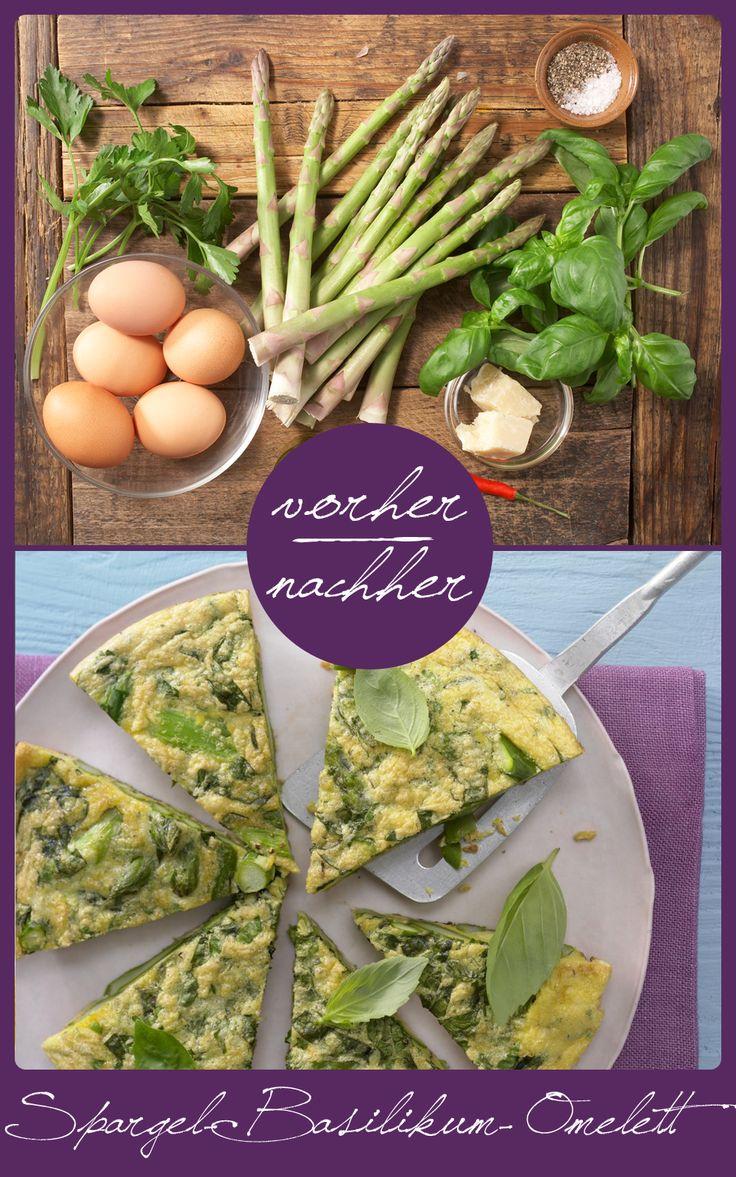 http://eatsmarter.de/rezepte/spargel-basilikum-omelett Spargel verleiht dem Omelett eine besondere Note.