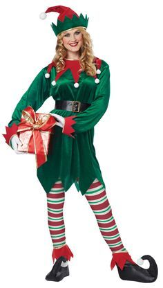 Adult Christmas Elf Costume - Santa's Helper Costumes - Christmas Costumes