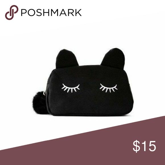 Black Cat Makeup Bag > new > use offer button > bundle & save > 5.5 inches X 10 inches Bags