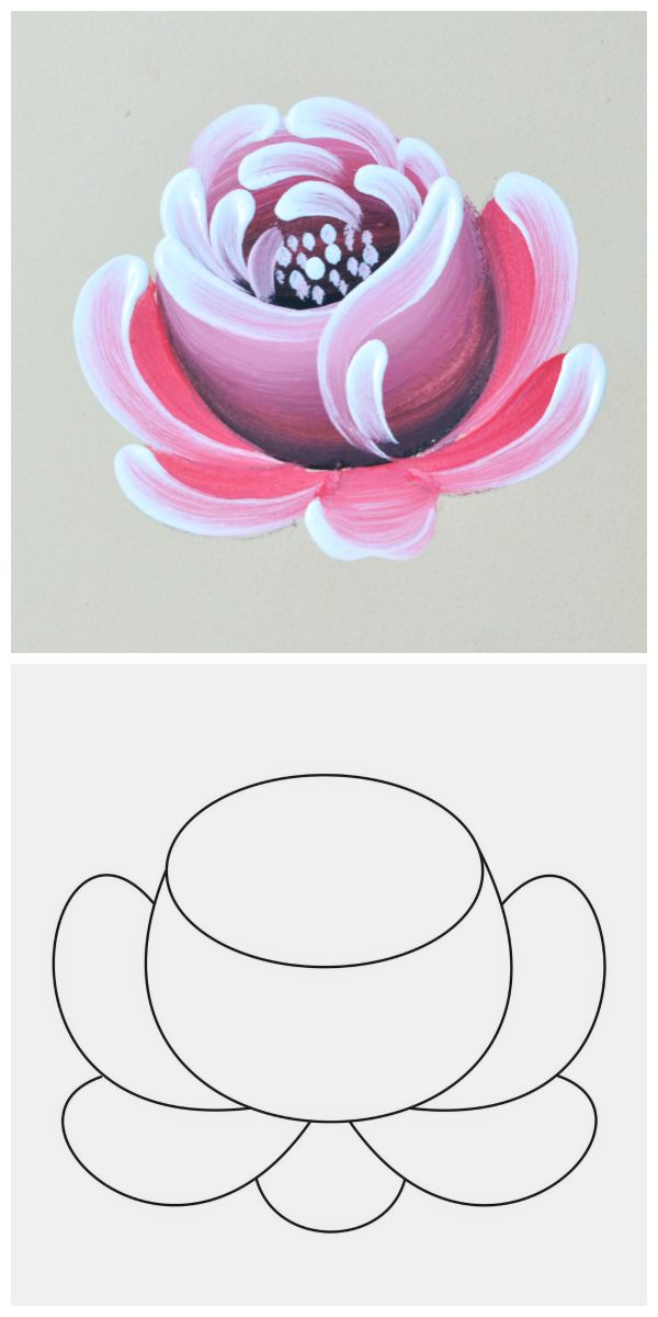 Atelier Gina Pafiadache: Rosa em Bauernmalerei