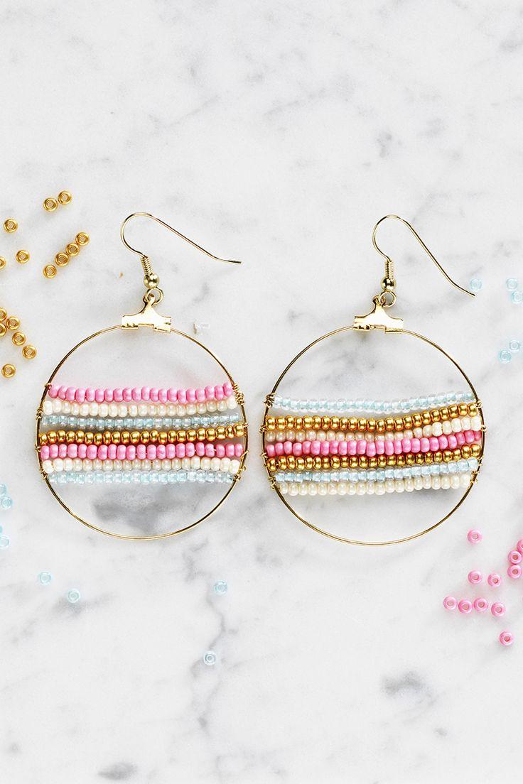 Rocaille earrings www.panduro.com Jewellery by Panduro #jewellery #jewelry #earrings #smycken #örhängen