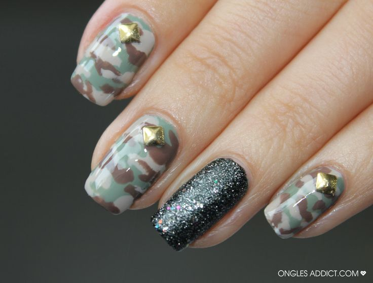 Army Nail Art Pin by Ongles Addict o...
