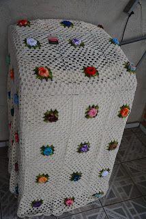 Sandra Roque Artesanatos: Capa de maquina de lavar em croche