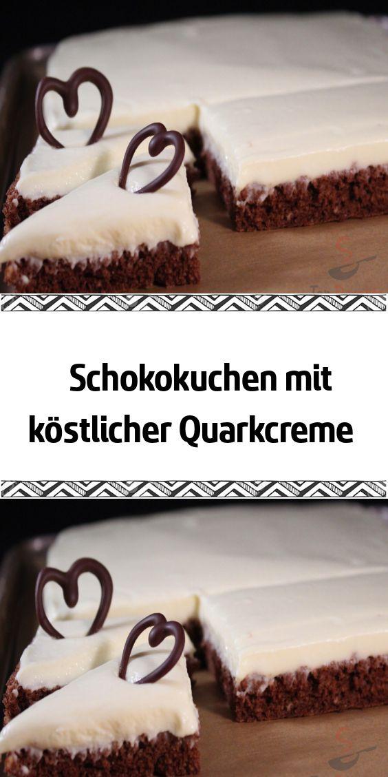 Schokokuchen mit köstlicher Quarkcreme – – REZEPTE – Beste Rezepte