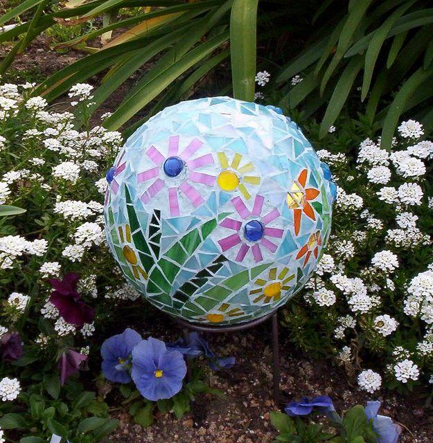 Teal Garden Gazing Ball 2 By GardenDivaDeb, Via Flickr