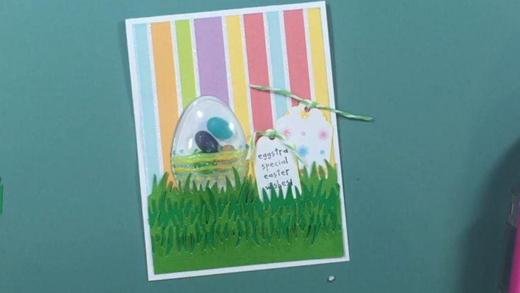 Easter card using the Tonic Balloon Shaker and Die