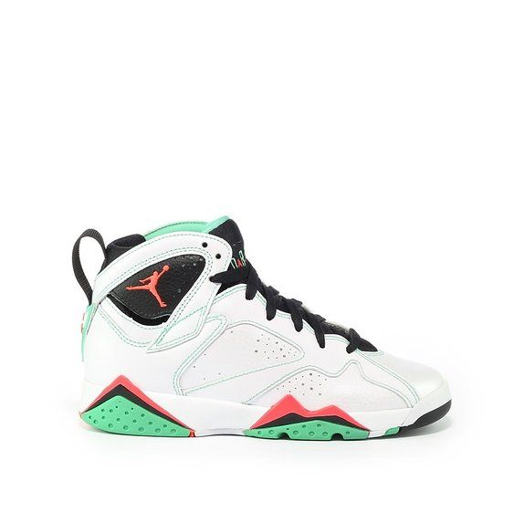 nike air jordan 7 retro GG hi top trainers 705417 sneakers shoes (uk 6 us  eu white infrared 23 black verde