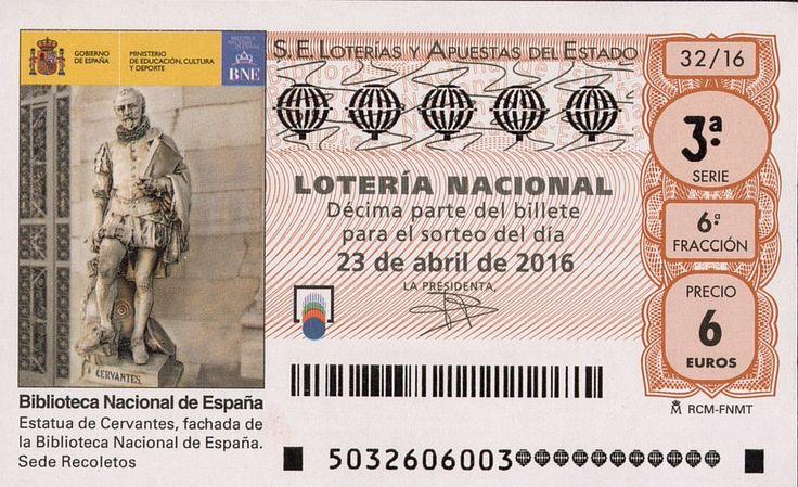 Billete de lotería: Don Quijote de La Mancha (Loteria Nacional (Spain), España) (2016 Don Quijote de La Mancha) Col:LN-SP-4713