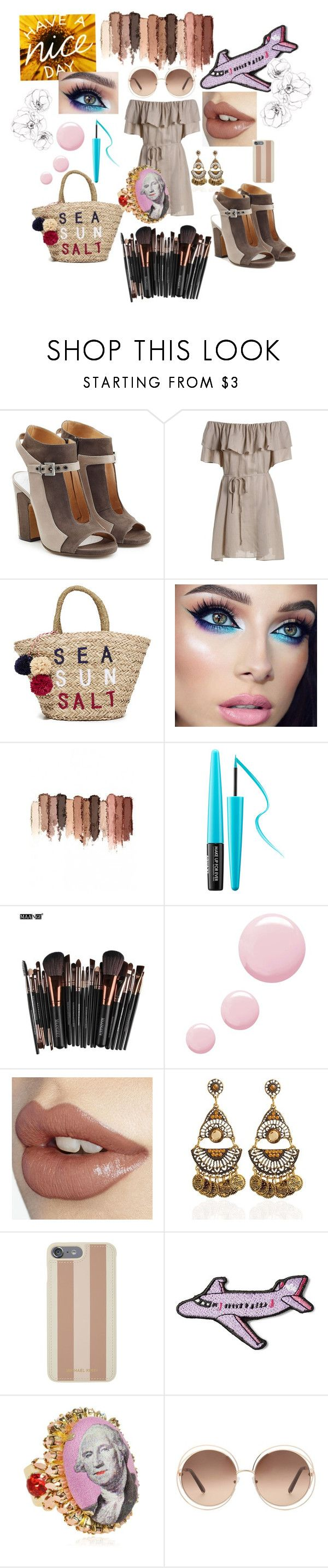 """""""AhNudMix"""" by tina-joplin ❤ liked on Polyvore featuring Maison Margiela, Sundry, tarte, MAKE UP FOR EVER, Topshop, Michael Kors, Stoney Clover Lane, Bijoux de Famille and Chloé"""