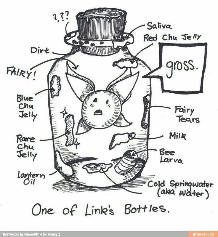 The legend of zelda fairy bottle funny