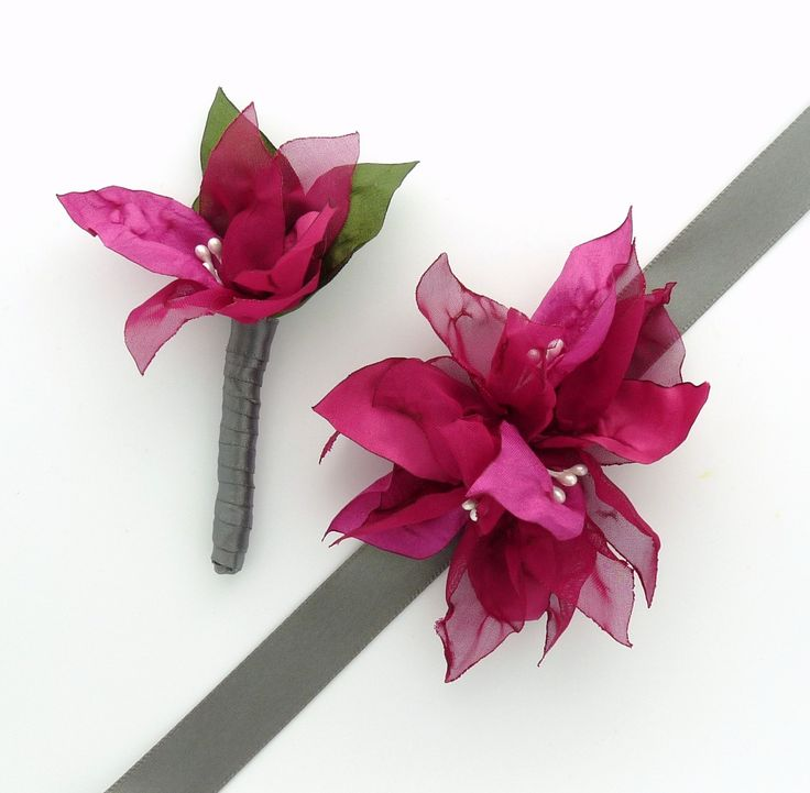 bouganvillea hair clips | Like this item?