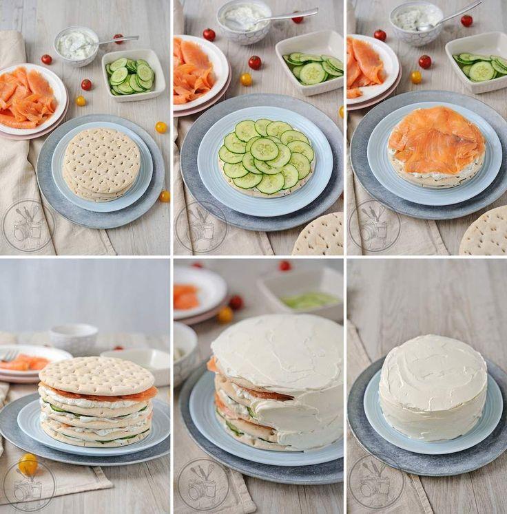 Sandwich cake steps