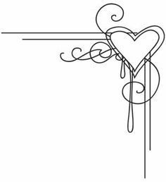 simple border designs for project swirls and hearts - Google Search