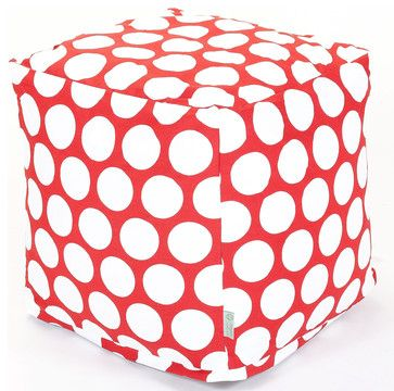 Indoor Red Hot Large Polka Dot Small Cube modern ottomans and cubes