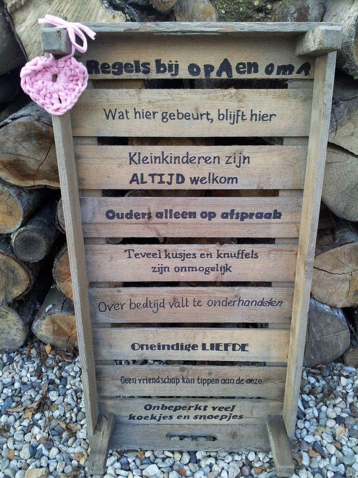 Leuk houten bord voor grootouders