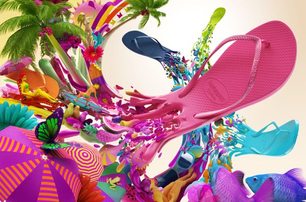 Colorful Havaianas Project by Colorsponge | Abduzeedo Design Inspiration & Tutorials