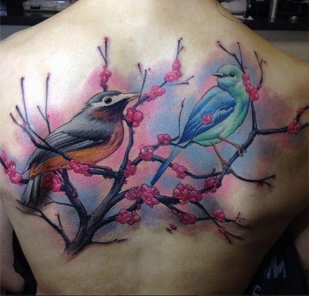 Tattoo-Foto: Rücken Tattoo. Eine Sitzung.