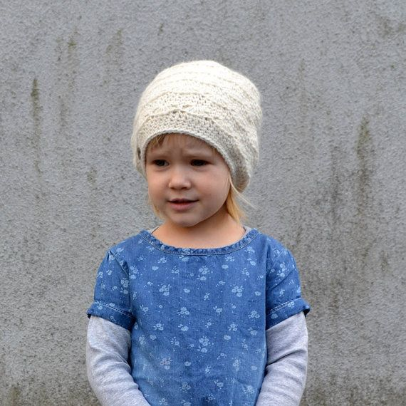 Lacy Alpaca Winter Hat for Baby / Toddler Gril in by acrazysheep