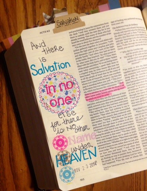 A Day in the life of a Country Mouse: Journaling Bible-Acts 4:12