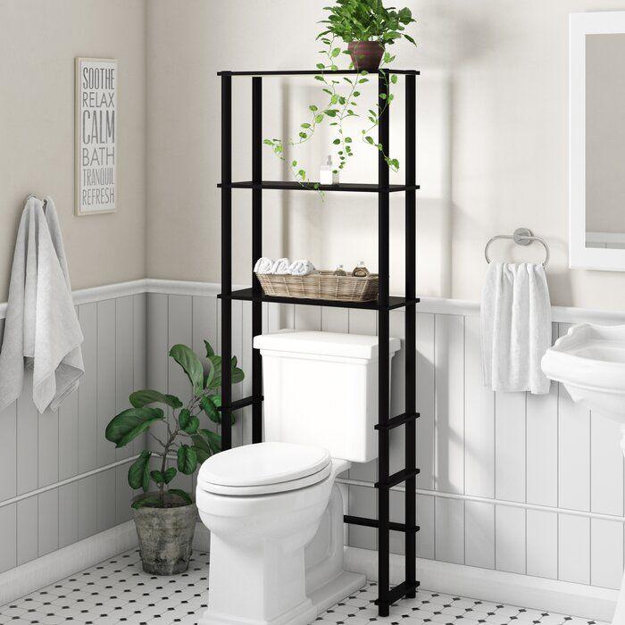 Anoka 23 62 W X 64 57 H X 9 05 D Over The Toilet Storage Toilet Storage Over Toilet Storage Small Bathroom Decor
