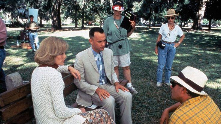 """Forrest Gump"" (1994) Tom Hanks, Robin Wright and director Robert Zemekis"