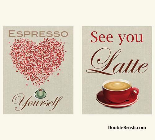 Espresso Yourself Coffee Art Print and See by HappyHomeDecorPrints, $23.00