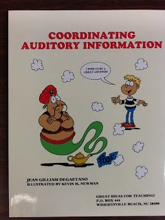 AUDITORY PROCESSING!!  Check out a review of a fantastic resource by Great Ideas for Teaching!