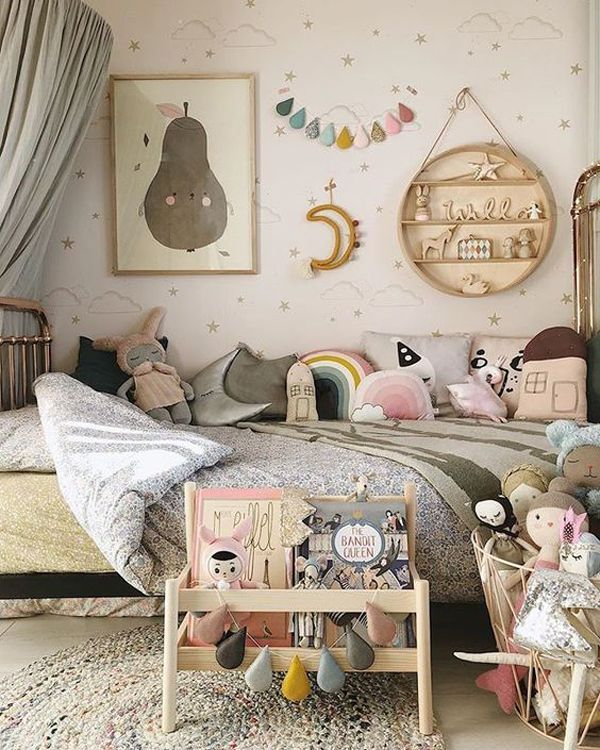 A Scandinavian Style Shared Girls Room By Kids Interiors Shared Girls Room Girls Room Decor Girl Bedroom Designs
